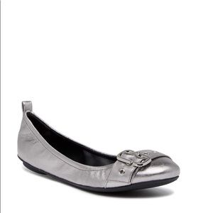 Marc Jacobs Dolly Leather Buckled Ballerina Flat.